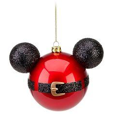 ho ho ho! mickey mouse ornament