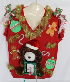 Deb Rottum's *** Tacky Ugly Christmas Sweater Women's Size 3X 4X Lights 26/28 #WhiteStag #sweater