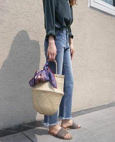 Basket bag | @andwhatelse