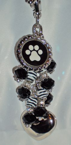 Paw print purse light by Diva Dangles @ www.divadangles.com