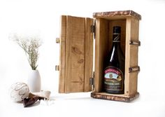 Wooden Wine Personalized Box, Tool Box, Rustic, wood burned