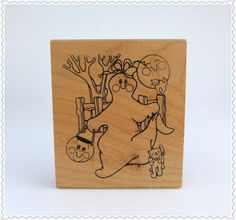 Vintage Rubber Stamp New Old Stock Large by RaindropVintageShop