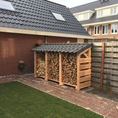 Douglas wood sheds - Garden and Fireplace - Today Pin can find Sheds and more on our website.Douglas wood sheds - Garden and Fireplace - Today Pin Outdoor Firewood Rack, Firewood Shed, Firewood Storage, Outdoor Storage, Backyard Sheds, Backyard Landscaping, Garden Sheds, Douglas Wood, Wood Storage Sheds