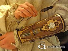 Steampunk Bracer by SqLeatherwork