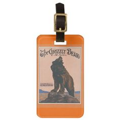 The Grizzly Bear Rag Luggage Tag