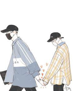 My Lover / Chanbaek Kpop Fanart, Chanbaek Fanart, Baekyeol, Exo Anime, Anime Guys, Manga Anime, Chibi, Exo Fan Art, K Wallpaper