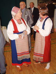 Rautulaisia kuvia Folk Costume, Costumes, Folk Clothing, Apron, Embroidery, Female, Finland, Roots, Clothes
