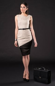 asymmetry dress go to work in style and comfort.