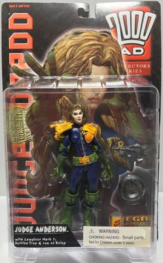 This just in at The Angry Spider Vintage Toy Store: TAS037706 - 1999 ...  Check it out here! http://theangryspider.com/products/tas037706-1999-re-action-figures-judge-dredd-judge-anderson?utm_campaign=social_autopilot&utm_source=pin&utm_medium=pin