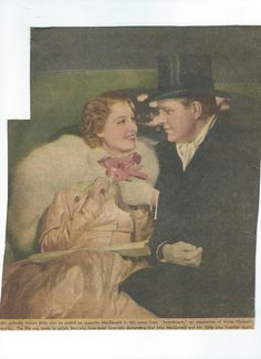 From a very old magazine, a color photo - Jeanette MacDonald and Nelson Eddy from Sweethearts (1938). This is slightly different in that Nelson is holding also the orchid. - ESCANO COLLECTION
