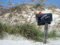 Kindred Spirit Mailbox on Bird Island, NC--find it and write your message!