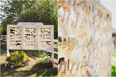 windowpane and clothespins seating chart, escort cards {captured by Amanda K Photography} #vintage #rustic #DIY
