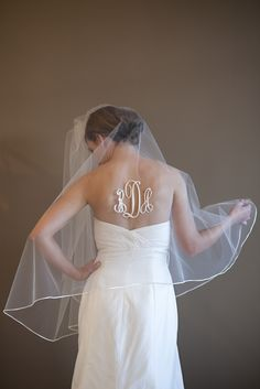 THIS is awesome. Monogrammed veil is a must!!!