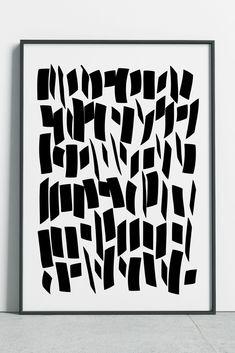 Calligraphy Art, Brush Strokes Print #fluorama#fluoramaposters#fluoramaprints#prints#posters#wallart#calligraphy#blackandwhiteart#blackandwhitedecor#blackandwhiteprint