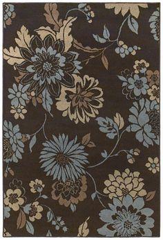 Shaw Rugs Concepts Flora Vista Brown/Blue Rug | Wayfair