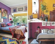 Whatever your home style, these rare and unexpected bedroom wall paint colours will work surprisingly well in your Indian home. Browse through and pick one! Bedroom Wall Paint Colors, Bedroom Wall Paint, Best Bedroom Colors, Wall Paint Colors, Burgundy Walls, Indian Homes, Color Combinations Paint, Bedroom Paint Colors, Ceiling Design Bedroom