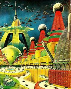 City of the Future ,'42 Magazine,art by Frank R. Paul