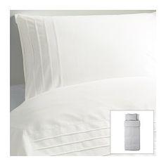 ALVINE STRÅ Bettwäscheset, 2-teilig, weiß Bettbezug/Länge: 200 cm Bettbezug/Breite: 150 cm Kopfkissen/Länge: 50 cm