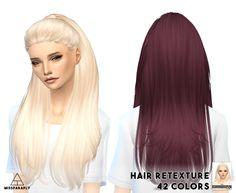 Miss Paraply: Nightcrawler`s Break Free hairstyle retextured  - Sims 4 Hairs - http://sims4hairs.com/miss-paraply-nightcrawlers-break-free-hairstyle-retextured/