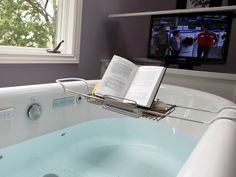 tub book and tv ... Doesn't get much better than that