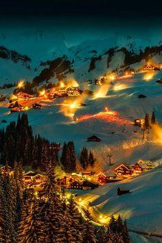 Dreamful night, Bregenzerwald, Bregenz, Austria