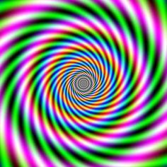 Ilusão de ótica pra ficar maluco; esta imagem pode ser usada para autohipnose...