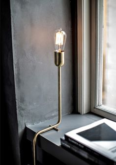 A modern lamp is always a good touch in any of your luxury interior design projects. Discover more luxurious interior design details at spotools Interior Lighting, Home Lighting, Lighting Design, Industrial Lighting, Lighting Ideas, Industrial Design, Industrial Table, Industrial Interiors, Modern Industrial