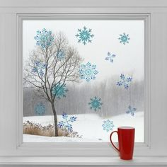 Vianočné dekorácie na okno - Snehové vločky