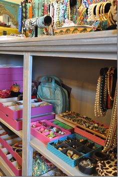 Major jewelry storage in this closet with major jewelry!