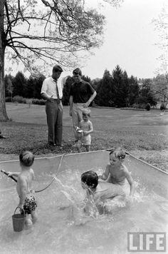 Hickory Hill, Mclean, VA - May 1, 1957. JFK & RFK talk in the background