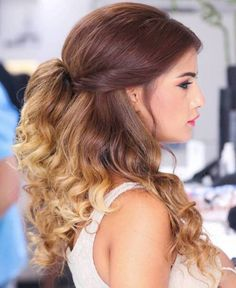 Wedding Hair Down Medium-To-Long Brown Blonde Ombre Hair - Best Ombre Hair, Blond Ombre, Brown Ombre Hair, Ombre Hair Color, Brown Blonde, Blonde Hair, Half Up Wedding Hair, Wedding Hairstyles Half Up Half Down, Down Hairstyles
