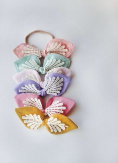 Handmade Lace Detail Baby Toddler Hair Bows | lovedeanjax on Etsy