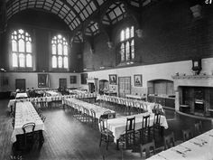 The original dining room at Girton College, Cambridge, built from 1873. © Source English Heritage.NMR.