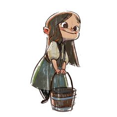 """Gretel"" character study by Ryan Lang* - Blog/Website 