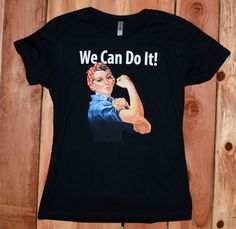 Rosie The Riveter Womens Vintage Tees, Rosie The Riveter, We Can Do It, Graphic Tee Shirts, Mens Tops, Fashion, Moda, La Mode, Fasion