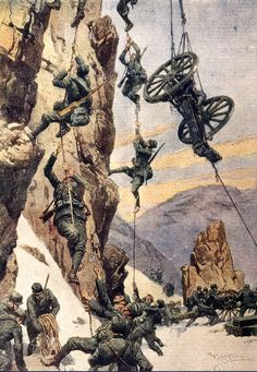 """greatwar-1914: """"Logistics on the Italian Alpine front could be challenging. Pulleys, levers, and zip-lines were all used to get supplies and reinforcements to the front lines. """""""