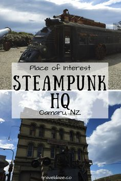 Steampunk HQ is a gallery & museum in Oamaru, New Zealand. Dedicated to steampunk style, inspired by Victorian era technology. Travel Articles, Travel Tips, Family Road Trips, New Zealand Travel, Places Of Interest, What Is Like, Victorian Era, Dream Vacations, Time Travel