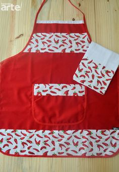 Kit apron + tea towel Apply apron with pet. Apron and Pa . - Diy And Home Sewing Crafts, Sewing Projects, Bazaar Ideas, Embroidery Bags, Sewing Aprons, Apron Designs, Kids Apron, Kitchen Aprons, Tea Towels