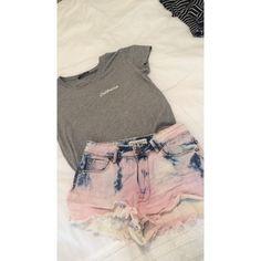 bullhead tye dye high waisted jean shorts so cute & original & perfect for summer Bullhead Shorts Jean Shorts