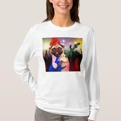 #Rock dog - pug party - pug guitar - dog rocker T-Shirt - #dog #doggie #puppy #dog #dogs #pet #pets #cute #doggie #womenclothing #woman #women #fashion #dogfashion