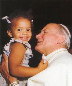 Pope John Paul II and child