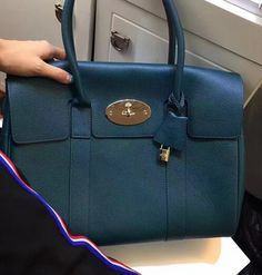 New Mulberry Edition 2017-Mulberry Bayswater Ocean Blue Small Classic Grain