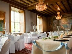 Wedding dinner at hotel Villa Pauli in Stockholm, Sweden Countryside Hotel, Villa, Wedding Dinner, Table Settings, Castle, Stockholm Sweden, Table Decorations, Home Decor, Decoration Home