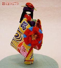 沖縄 彩人形-手のひらサイズの和紙人形 Okinawa washi ningyo