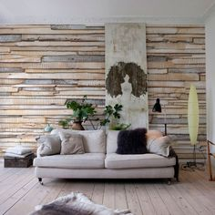 Fotobehang Whitewashed wood - Industrieel behang | Muurmode.nl