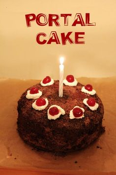 The cake is a lie – ciasto z gry Portal | paulinawnuk.com