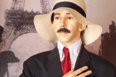 Estátua de cera de Santos Dumont, em exposição no Museu de Cera de Petrópolis (RJ)