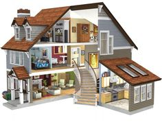 Dollhouse Room Designs | ... - Home Plan Design Servicec Company 3D, Classic Designs, LLC