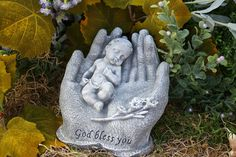 In God S Hands Miscarriage Baby Memorial Garden Statue