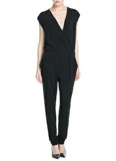 MANGO - CLOTHING - Jumpsuits - Wrap jumpsuit